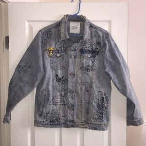 Profound Aesthetic distressed denim jacket